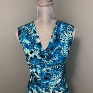 New Woman Design N.W.D. Blue ruched top small